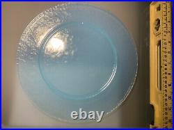 10 Piece Set Vintage YALOS CASA MURANO Light Blue Aqua Underliner Plate 12 3/8