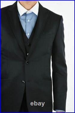 £1950 Corneliani Nwts 2020 3 Piece Navy Suit Uk 40 It 50 34w Made In Italy