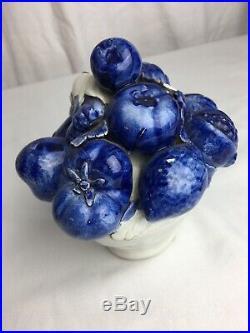 1960s Italian Ceramic Fruit Basket Decor / Center Piece