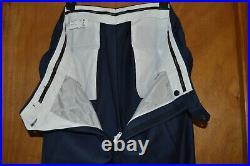 2 piece mens suit CANALI ITALY blue wool plaid coat 50XL/48XL pants 38 x 33.5