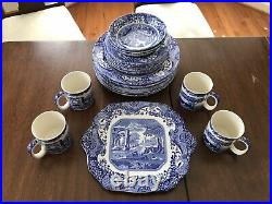 24 Piece Spode Blue Italian Dinnerware Set