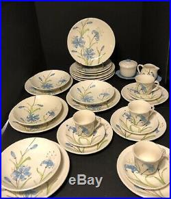 29 Pieces of RARE VINTAGE BLUE LILY by Ceramicist Ernestine Cannon Salerno Italy