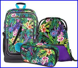 3 Cubic Set School Backpack Set Girls 3 Pieces School Bag from 3rd Class