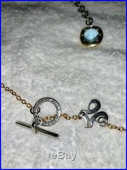 3 Piece Italian Designer Mobi Stainless, 18K Yellow Gold. Blue Topaz Diamonds