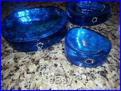 3 piece Blue Murano Italy V. Nason & C