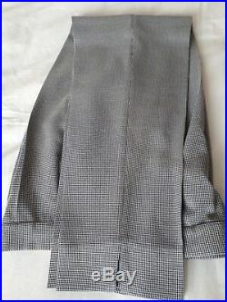 3 piece ladies Italian blue & white trouser suit size 10 includes waistcoat