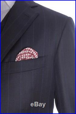 $3395 Belvest 3 Pieces Wool Cashmere Dark Blue Suit 40 US / 50 EU Drop 7R