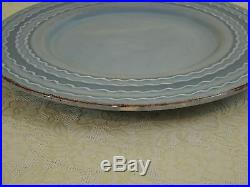 4 Laura Clementi Blue Salad Plates Lcl1 Embossed Waves Italy(other Pieces Avail)