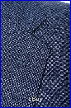 40R Joseph Abboud Blue Birdseye Italian Reda Super 110s Wool 2-Piece Suit 34x30