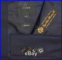 44L J Crew Ludlow Navy Blue Loro Piana 2 PIECE SUIT