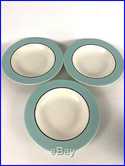 6 pieces Pagnossin Audrey Italian china dinner salad plate rim soup bowls