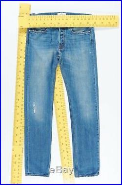 7634 Genuine STONE ISLAND Men's Blue Faded Denim Chinos Jeans + Patch W32 L34