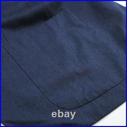 $8,000 Kiton Cashmere/Silk 2 Button Patch Pocket Blue Men's Blazer US 40R