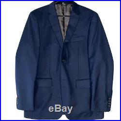 ANGELO ROSSI Italian-Made Navy Blue Two-Piece Suit (32/32 Coat and 34/37 Pant)