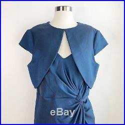 Adrianna Papell 2 Pieces Blue Sheath Cocktail Wedding Dress Womens Plus Size 16