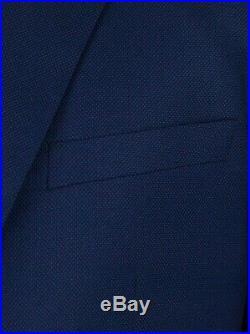 Alain Dupetit Birdseye Blue 3 Piece Suit ITALIAN MADE, AUTHENTIC QUALITY