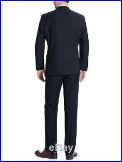 Albani Big Men's Dark Navy Classic Fit Italian Styled Two Piece SuitAlbani BigF4