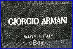 Authentic Giorgio Armani 3 Piece Velour Suit Navy Blue Black