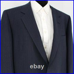 BRIONI 2 Piece Wool/Mohair Navy Blue Pinstriped 2 Button Suit size 56 US 46