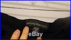Banana Republic Vintage Navy Italian Wool 3 Piece Suit