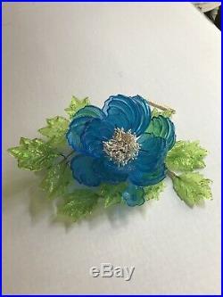 Barovier Toso Venetian Murano Glass Flower Floral Centerpiece Art Piece Display