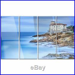 Beautiful Italian Seashore View' 4 Piece Photographic Print on Metal Set