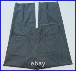 Belvest Pure Wool Gray Blue Micro-Check Two Piece Italian Men's Suit 34x30 40 R
