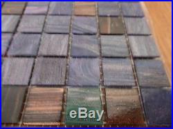Bisazza Italian Glass Mosaic Tile Tahiti 28 Pieces Approx 30 Sq Ft New