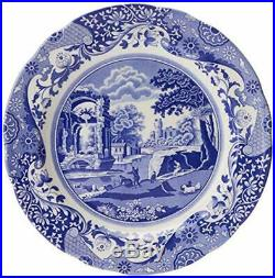 Blue Italian 12 Piece Traditional Style Dinnerware Set Dishwasher safe Genuine