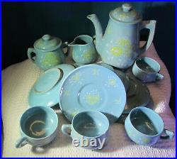 Blue Italian Demitasse Tea Set (17 piece set)