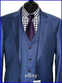 Bnwt Luxury Men's Paul Smith Soho Italian Made 3 Piece Tonik Blue Suit 46r W40