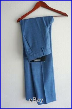 Bonobos Blue Wool 2-piece Suit 36R, 30x32, Fine texture, 700$ original price