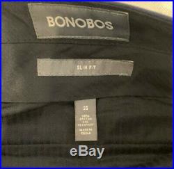 Bonobos Jetsetter Stretch Italian Cotton Two Piece Slim Suit 42L Pant 35x33 Navy