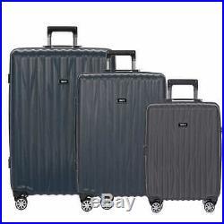 Bric's Cervia Navy Blue Italian Hardside Luggage (3 Piece Spinner set)