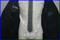Brooks Brothers Mens Navy Blue ITALIAN Flat Front 2 Piece Suit SIZE 42R 36Wx29L