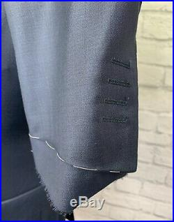 CANALI 1934 MENS BLUE WOOL ITALIAN MADE 2 PIECE SUIT NEW With DEFECTS 40R