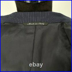 CANALI Navy Blue Pinstriped 2 Piece 2 Button SIngle Brreasted Suit size 38 Reg
