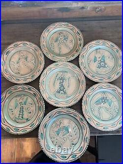 CIAURRO ORVIETO made in ITALY handmade/hand signed POTTERY, 46 PIECE SET