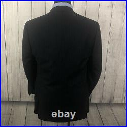 Canali 42R W34 x L30 Navy Blue Pinstriped Wool Italian Made 2-Piece Suit