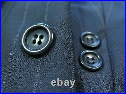 Canali Proposta Pure Wool Blue Striped Two Piece Italian Men Suit 34x28 40/42 R