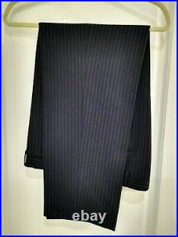 Canali made in Italy wool cashmere blend canvassed three piece suit 38 R