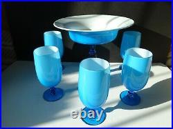 Carlo Moretti Rare Glass Comport 6 Piece Set