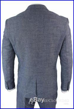 Cavani Antonio Blue grey Check 3 Piece Suit Single breast Size 36 BNWT RRP £199