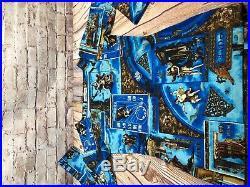 Claude Lema iconic Italian designer zodiac print 2 piece skirt top womens sz s/m