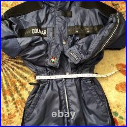 Colmar Italian Rare 1 Piece ski suit Blue Sz 40 Technologic Extralight edition