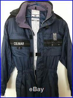 Colmar Italian Rare 1 Piece ski suit Blue Sz 50 Technologic Extralight edition