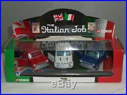 Corgi 05506 Italian Job Film 3 Piece Mini Cooper Car Diecast Model Gift Set