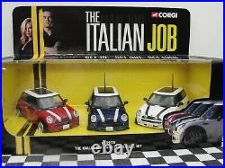 Corgi Diecast The Italian Job Mini Three Piece Set Cc99138 New Old Stock Boxed