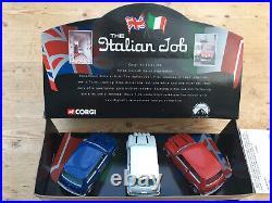 Corgi Toys The Italian Job Three Piece Mini Set No 05506 Boxed