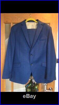 Corsivo Italian Navy Blue 2 Piece, Fine Italian Fabric Size 44r/36r
